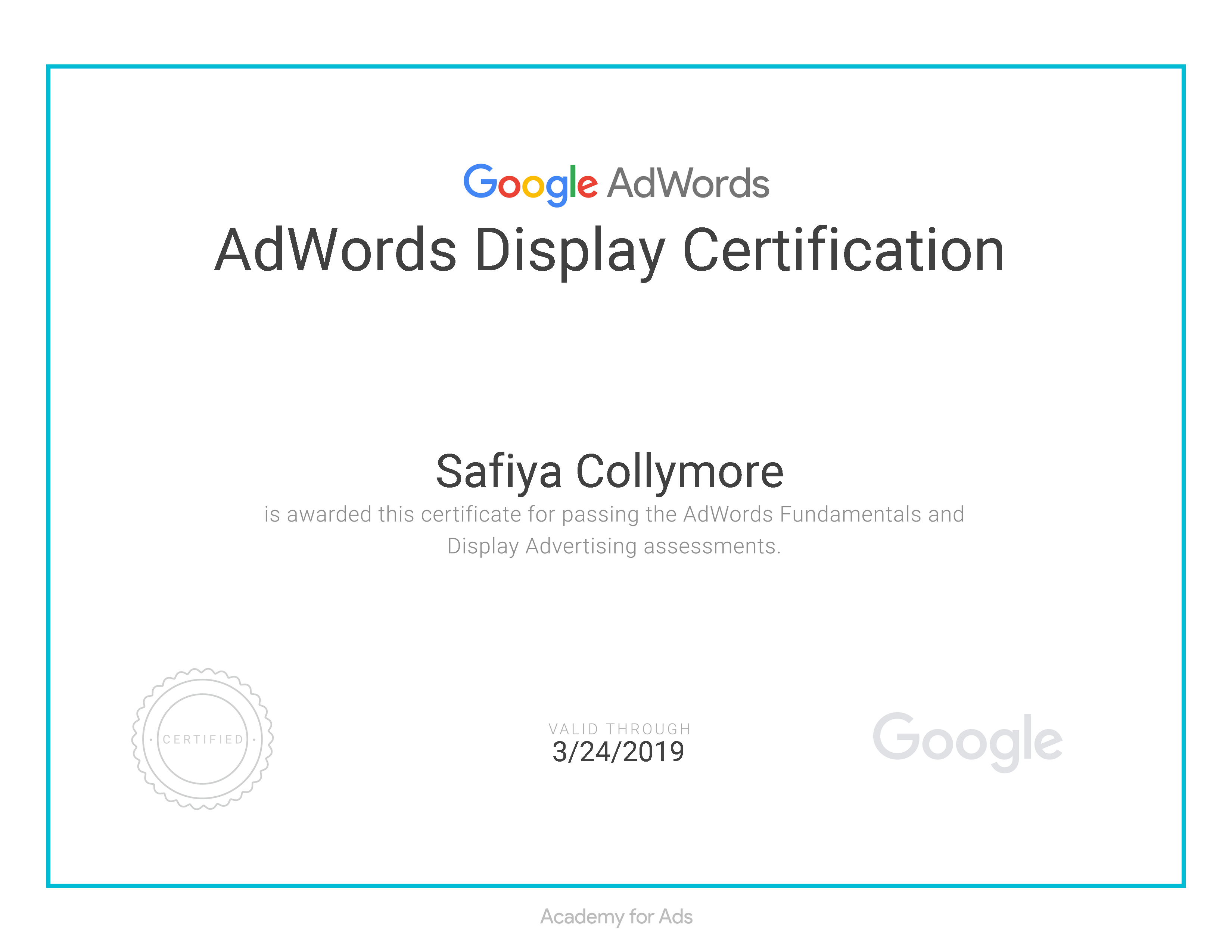 Certificate 03023 11436998 1 Adwords Search Certification